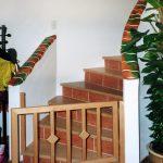 Handläufe von Treppen oder Brüstungen lassen sich gut mit handgeschlagener Keramik verkleiden