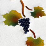 Keramische Weinblätter